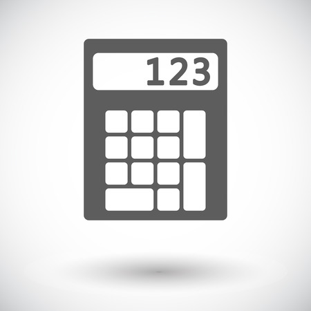 Calculator. Single flat icon on white background. Vector illustration.