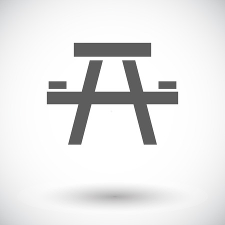 stowing: Camping table. Single flat icon on white background. Vector illustration.