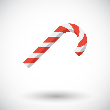 sugary: Candy. Single flat icon on white background. Vector illustration.