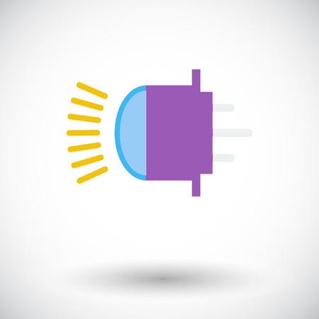 xenon: Xenon car lamp. Single flat icon on white background. Vector illustration. Illustration