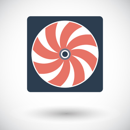 coolant temperature: Radiator fan. Single flat icon on white background. Vector illustration. Illustration