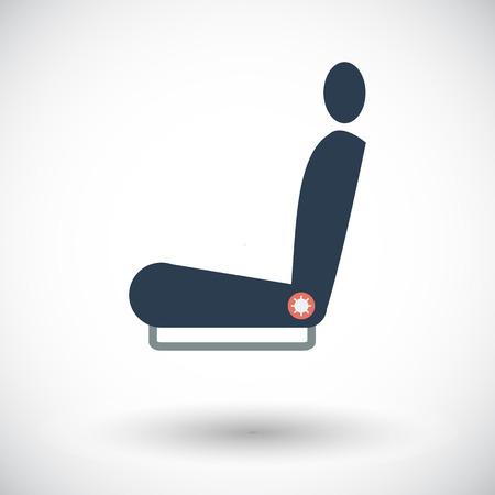 single seat: Seat. Single flat icon on white background. Vector illustration.
