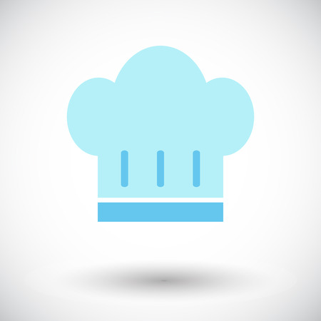 kitchener: Chef hat. Single flat icon on white background. Vector illustration.
