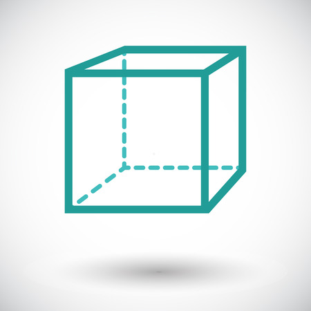 thinking link: Geometric cube. Single flat icon on white background. Vector illustration. Illustration