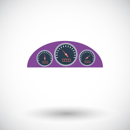 dashboard: Dashboard. Single flat icon on white background. Vector illustration.
