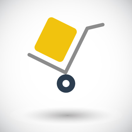 packaging equipment: Delivery. Single flat icon on white background. Vector illustration.