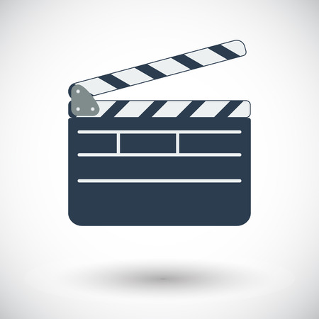 bollywood: Director clapperboard. Single flat icon on white background. Vector illustration. Illustration