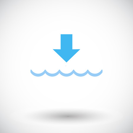 water's: Edd. Single flat icon on white background. Vector illustration.