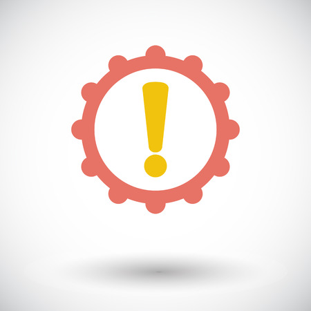 faulty: Faulty transmission. Single flat icon on white background. Vector illustration.