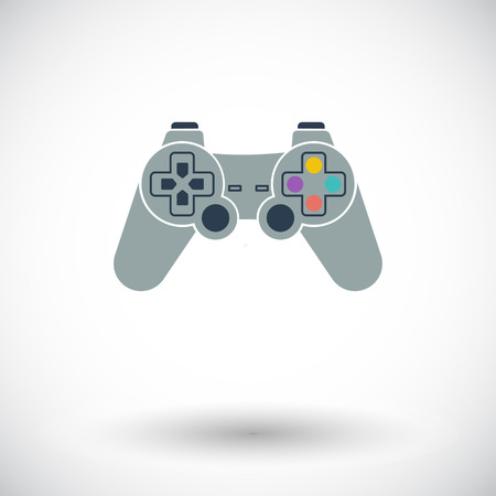player controls: Game. Single flat icon on white background. Vector illustration.