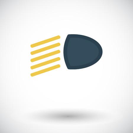 headlight: Headlight. Single flat icon on white background. Vector illustration.