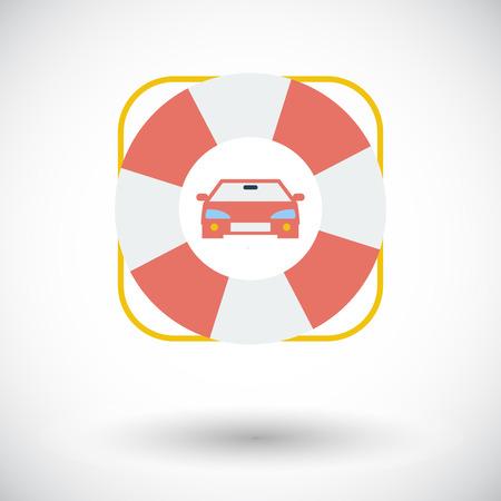 roadside: Roadside. Single flat icon on white background. Vector illustration. Illustration
