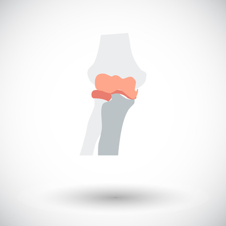 Knee-joint. Single flat icon on white background. Vector illustration.