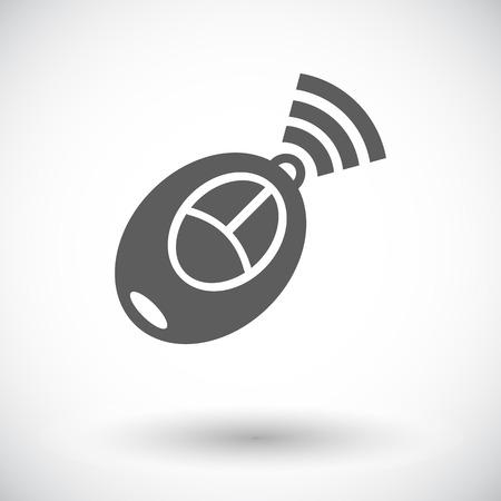 remote lock: Control remoto de coches. Solo icono de plano sobre fondo blanco. Ilustraci�n del vector.