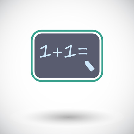 computation: Mathematics. Single flat icon on white background. Vector illustration.