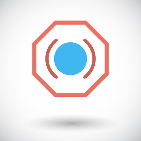 malfunction: Problems with brake fluid. Single flat icon on white background. Vector illustration.