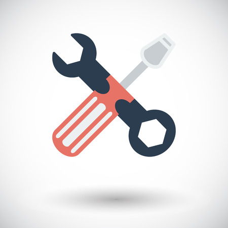 reconditioning: Repair. Single flat icon on white background. Vector illustration.