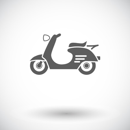 revivalism: Scooter. Single flat icon on white background. Vector illustration.