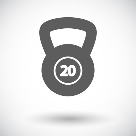 oversized: Sport weight. Single flat icon on white background. Vector illustration.