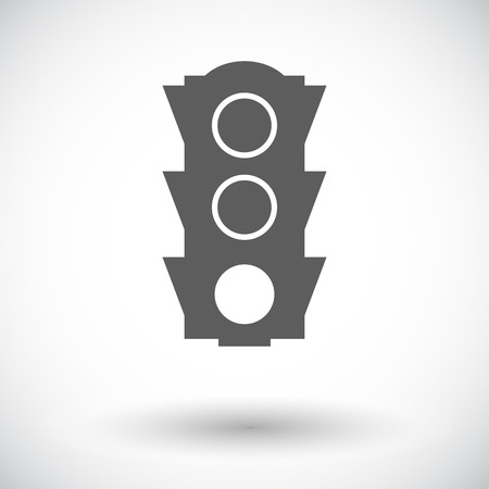 Traffic light. Single flat icon on white background. Vector illustration. Vector