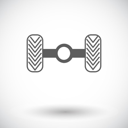 chassis: Chassis car. Single flat icon on white background. Vector illustration. Illustration
