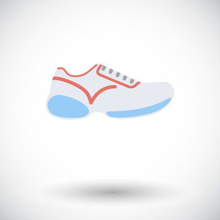 shoelaces: Shoes. Single flat icon on white background. Vector illustration.