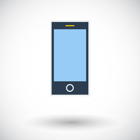 palmtop: Smartphone. Single flat icon on white background. Vector illustration.
