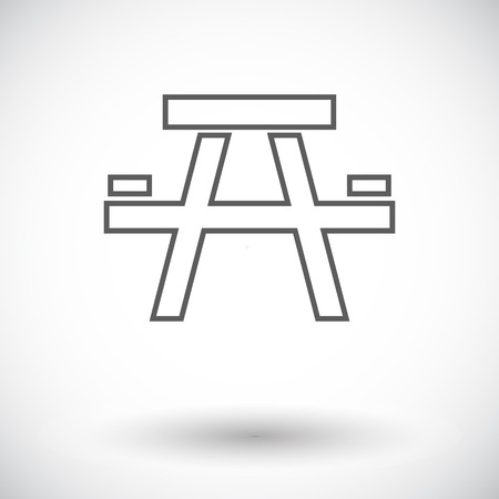 soiree: Camping table. Single flat icon on white background. Vector illustration.