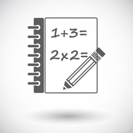 Mathematics. Single flat icon on white background. Vector illustration.