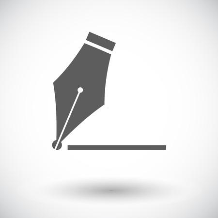 nib: Nib. Single flat icon on white background. Vector illustration.