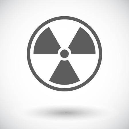 radiactividad: La radiactividad. Solo icono de plano sobre fondo blanco. Ilustraci�n del vector.