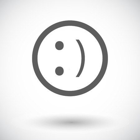 friendliness: Smile. Single flat icon on white background. Vector illustration.