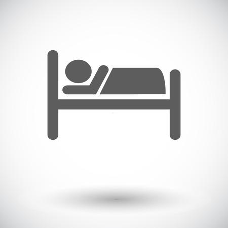 Hotel. Single flat icon on white background. Vector illustration. Illustration