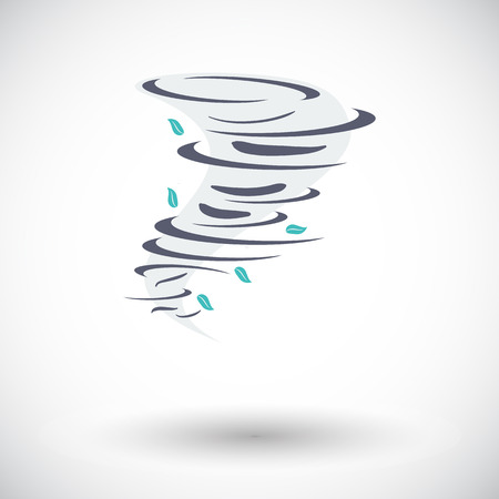 hailstorm: Tornado. Single flat icon on white background. Vector illustration.