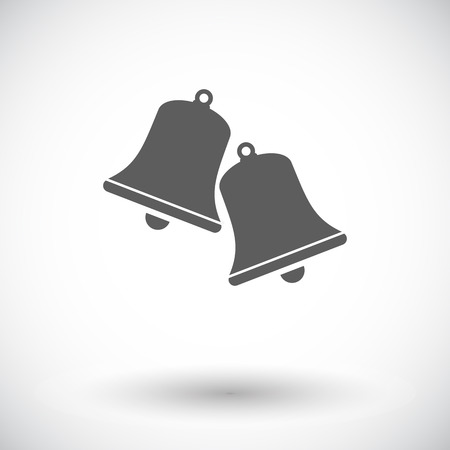 Christmas bell. Single flat icon on white background. Vector illustration.