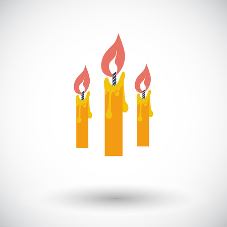 church group: Candles. Single flat icon on white background. Vector illustration. Illustration