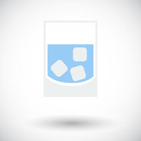 renat: Glas Whit is. Enkel flat ikonen på vit bakgrund. Vektor illustration.