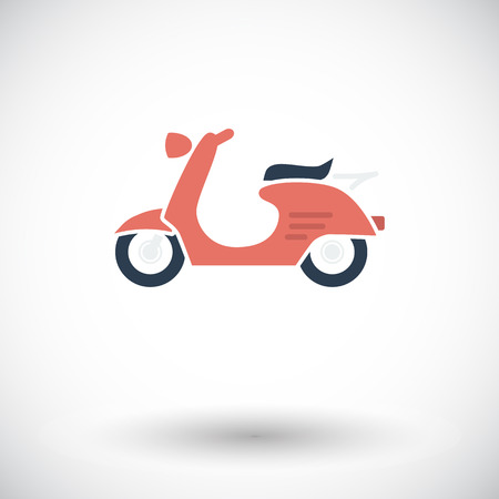 Scooter. Single flat icon on white background. Vector illustration. Vector