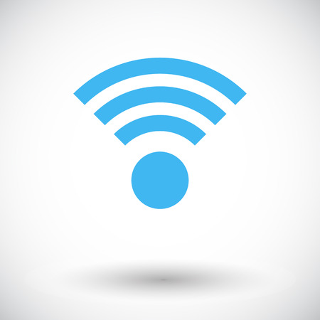 Wireless. Single flat icon on white background. Vector illustration. Vector