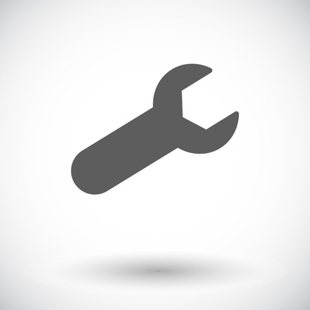 pictogramme: Wrench. Single flat icon on white background. Vector illustration.