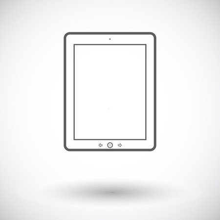 personal data assistant: Tablet PC. Single flat icon on white background. Vector illustration.