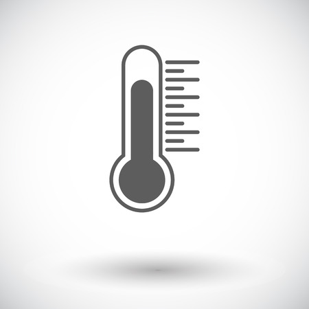 Thermometer. Single flat icon on white background. Vector illustration. Vector