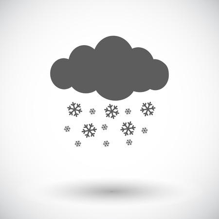 meteorologist: Snowfall. Single flat icon on white background. Vector illustration. Illustration