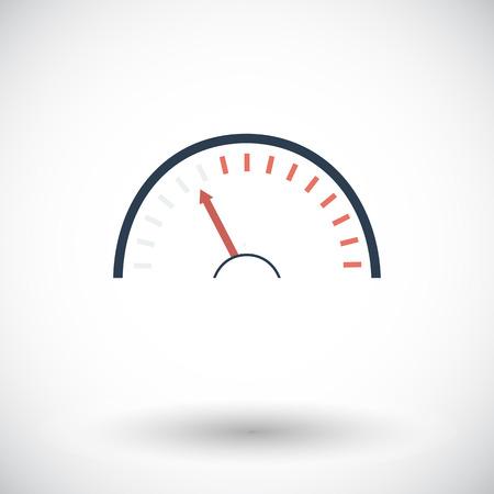 kph: Speedometer. Single flat icon on white background. Vector illustration. Illustration