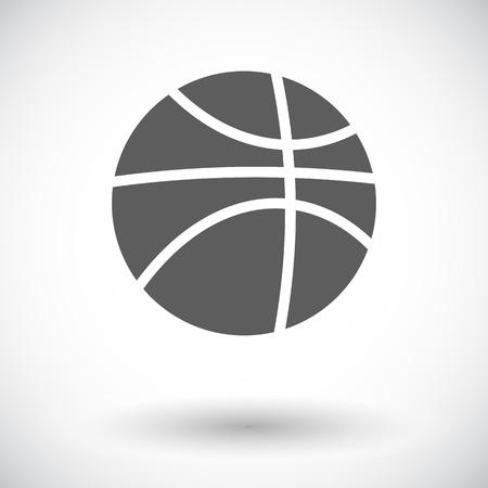 jednolitego: Koszykówka pojedyncze mieszkania ikonę na białym tle. Ilustracja