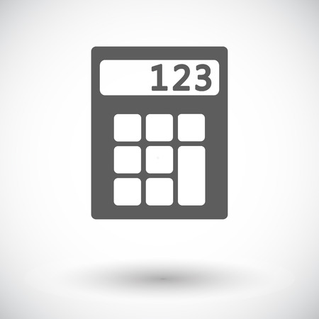 finance department: Calculator. Single flat icon on white background. Vector illustration.