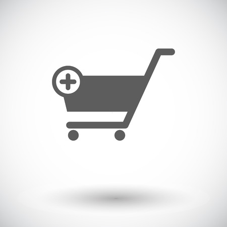 commercial painting: Cart. Single flat icon on white background. Vector illustration. Illustration