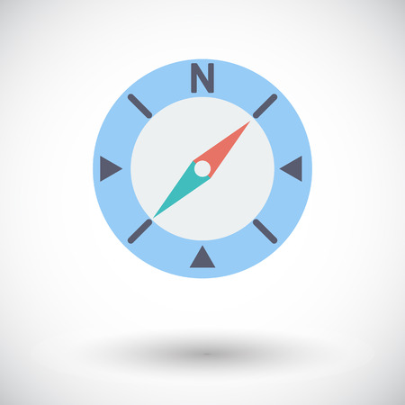 Compass. Single flat icon on white background. Vector