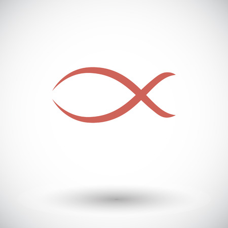 ichthys: Fish. Single flat icon on white background.