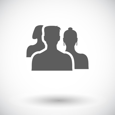 Add to friends. Single flat icon on white background.  Vector